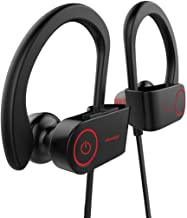 Firstop Auriculares Bluetooth, Auriculares Inalámbricos Impermeables IPX7, Audífonos con Reducción de Ruido y Ajuste Seguro para Deportes y Gimnasia, con Micrófono Incorporado