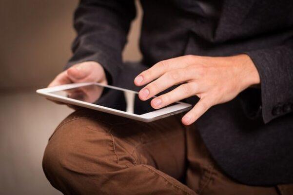 uso de tablet