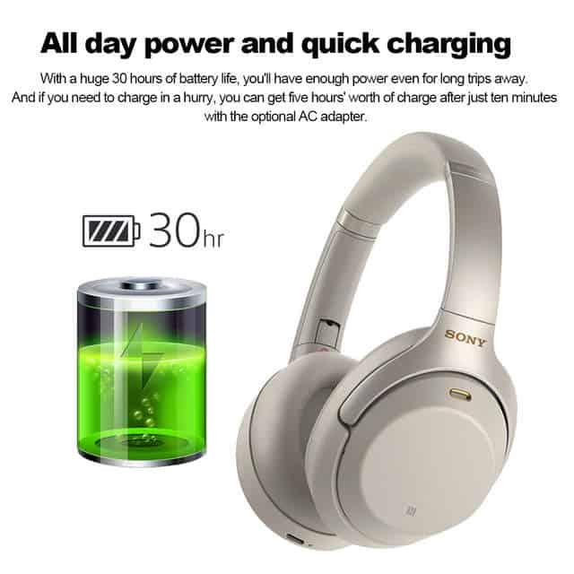 Sony WH-1000XM3 bateria