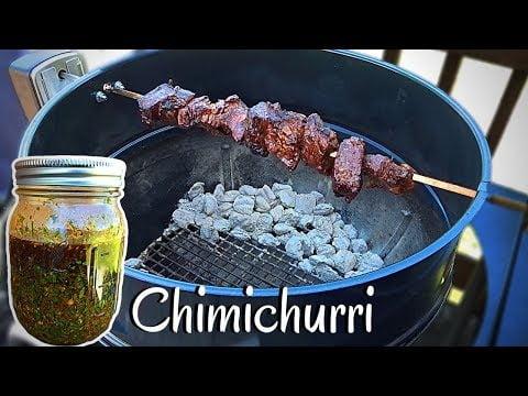 Chimichurri casero y Carne asada