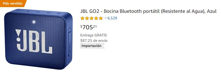 Jbl Go2 Bocina Bluetooth Portátil (resistente Al Agua), Azul