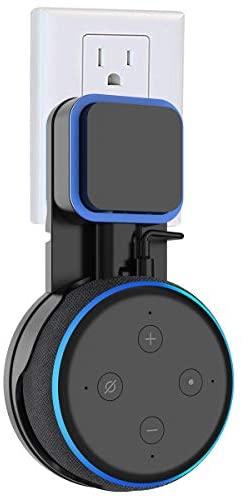SPORTLINK Soporte para Dot (3.ª generación), Gestión de Cables incorporada, sin Tornillos en Las cocinas, baño y Dormitorio (Negro)