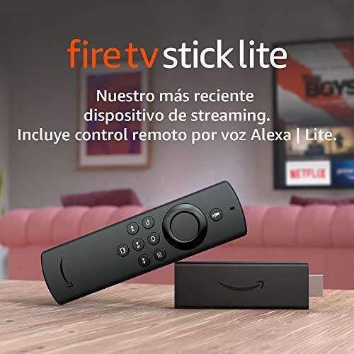 Presentamos el Fire TV Stick Lite con control remoto por voz Alexa   Lite   Dispositivo de streaming HD   edición 2020