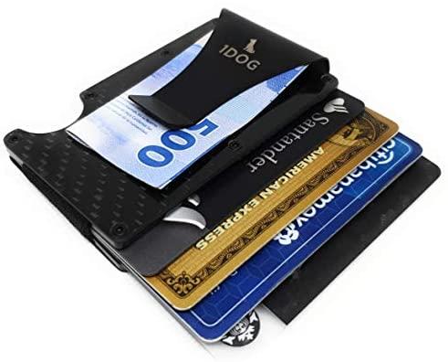 1dog Money Clip Cartera Tarjetero Porta Tarjetas Bloqueo RFID 2