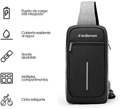 Redlemon Mochila Cruzada Impermeable Mini con Puerto USB 2