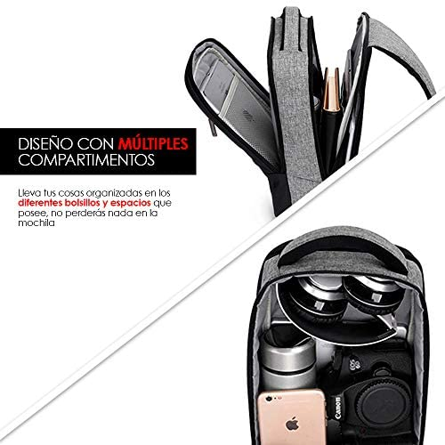 Redlemon Mochila Cruzada Impermeable Mini con Puerto USB 3