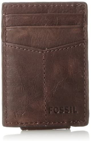 Fossil Ellis - Funda de piel con tapa magnética para hombre 1