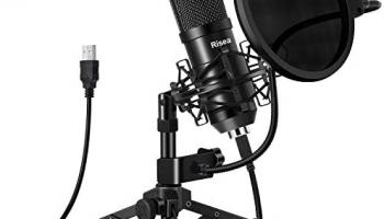 Risea – Micrófono para juegos USB, condensador  con trípode