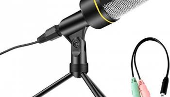 AVEDISTANTE Micrófono con Soporte para PC