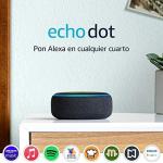 Echo Dot (3ra generación) – Bocina inteligente con Alexa, negro