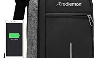 Redlemon Mochila Cruzada Impermeable Mini con Puerto USB